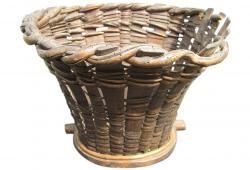 Rare French Antique Wine Grape Harvest Basket Hotte