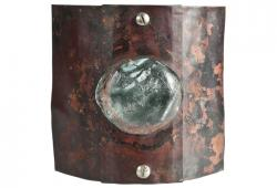 Reclaimed Copper And Glass Wall Sconce, 4 Available