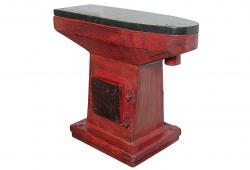 The Red Industrial Mold Console
