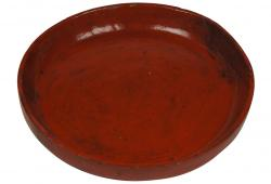 Red Lacquered Tibetan Platter