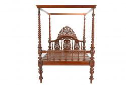 Regal Anglo Indian Canopy Bed