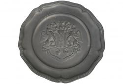 Roman Crested Pewter Plate