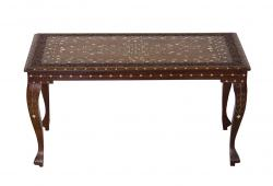 Rosewood Bone Inlay Table