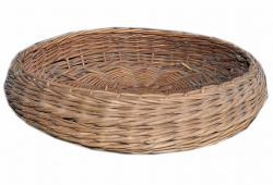 Round European Wicker Basket