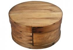 Round Wood Cheese Box With Lid