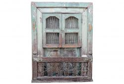 Rustic Architectural Window Balcony