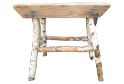 Rustic Old Tree Branch Bench Stool