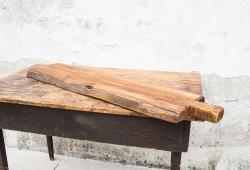 Long Rustic Plank Serving Board from Hungary
