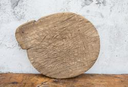 Unique Rustic Round Cutting Board