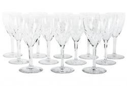 Set 12 Baccarat Crystal Wine Glasses.