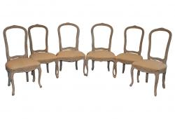 Set 6 French Louis XV Dining Room Chairs