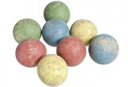 Set Of Eight Vintage French Boules