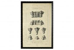 19th Century Architecture Book Prints, S/9