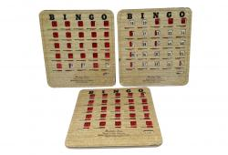 Set of Three Vintage Bingo Cards