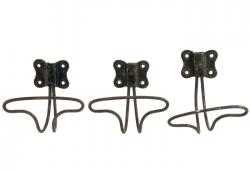 Set Of Three Vintage French Wire Coat Hooks