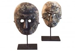 Small Asians Masks on Stand, Set 2
