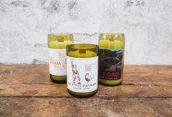 Soy Wine Bottle Candles