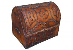 Spanish Studded Leather Box, circa 1900's