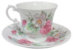 Staffordshire Porcelain Cup and Saucer