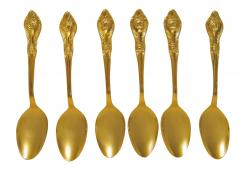 Stainless Goldware Spoons, set of 6