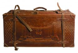 Stamped Leather Suitcase