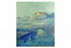 Tonalist Landscape in Blue