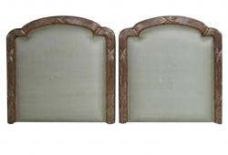 Twin Neoclassical Gilded Headboards, Pair