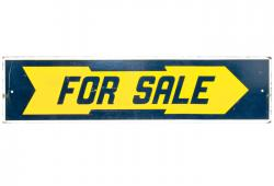 Two-Sided Wood For Sale Sign
