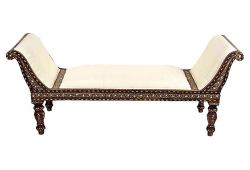 Anglo-Indian with slanted arms daybed