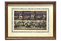 Vintage Bacchanal Frieze Engraving