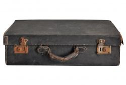 Vintage black  Leather Travel Case