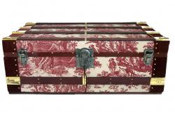 Vintage Cabin Trunk in WAVERLY Print Fabric