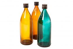 Vintage Colored Bottles, 1960, Italy