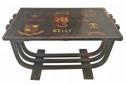 Vintage Deco Monogrammed Coffee Table