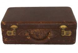 Vintage Distressed Leather Makeup Travel Case
