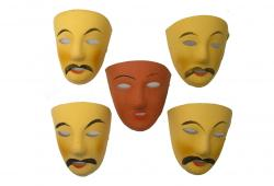 Vintage French Carnivale Masks, S/5
