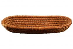 Vintage French Coiled Rye Basket
