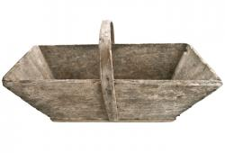 Charming Vintage  French Garden Trug