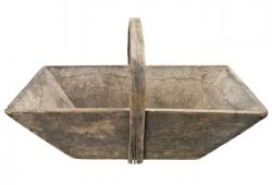 Vintage Wood Garden Trug or Caddy from France