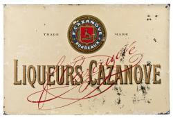 Vintage French Metal Sign For Cazanove Liqueurs