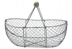 Vintage French Oyster Gathering Basket