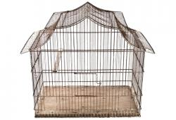 Vintage French Wire Bird Cage