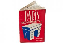 Vintage Guy Paris Monument Map