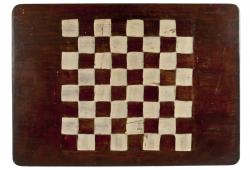 Vintage Handmade Two-Sided Wood Game Board