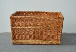 Vintage large Wicker Basket with Handles
