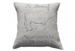 "Vintage Linen ""le Boeuf""  Grain Sack Pillow"
