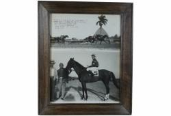 Vintage Photograph of Horse Race Winner, Havana Cuba 1946