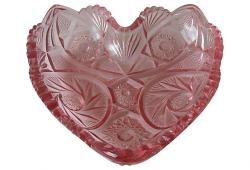 Vintage Pink Heart Form Bowl