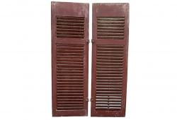 Vintage Red Shutters