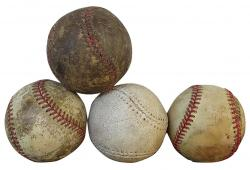 Vintage Set Mid-Century Leather Baseballs